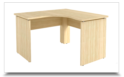 Mesas em l mesa l operacional p painel dir esq for Mesa escritorio l