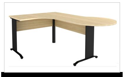Mesas em l mesa em l reuni o corporativo com p de metal for Mesa escritorio l